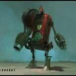 """Esta foi a primeira imagem artística que ficou circulando pela net. Trata-se de uma espécie de robô chamada """"Gasbot"""". Note o símbolo """"F3"""" no canto inferior esquerdo da imagem."""